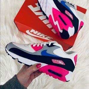 Nike Air Max 90 GS 'Photo Blue-Pink Blast'